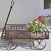 Iron Scroll Flower Cart