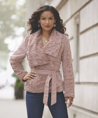 Blush Belted Jacket