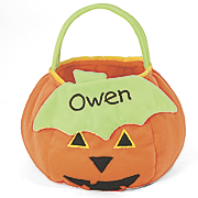 Personalized Toddler Pumpkin Treat Bag