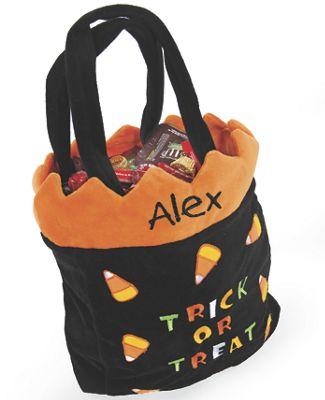 Candy Corn Halloween Trick or Treat Bag