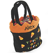 Personalized Candy Corn Halloween Trick or Treat Bag