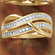 diamond 3 band ring
