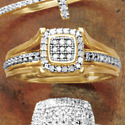 diamond square frame ring