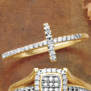 diamond cross ring 93