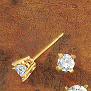 diamond solitaire post earrings