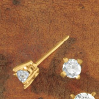 Diamond Solitaire Post Earrings