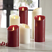 set of 3 mirage led candles
