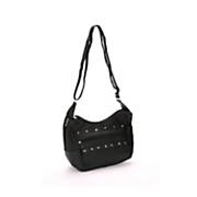 silver city studded leather handbag