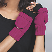 knit foldover gloves