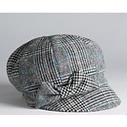 plaid bow cap
