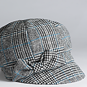 plaid bow cap