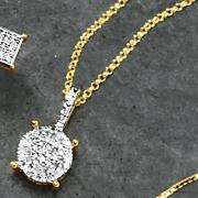 diamond round cluster pendant 79