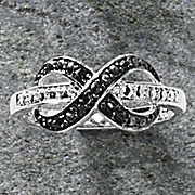 black and white diamond infinity ring