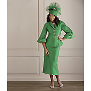 mary lu hat and skirt suit