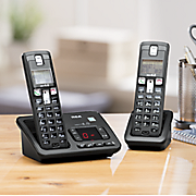 2 handset cordless phone system by rca