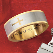 stainless steel two tone horizontal cross band