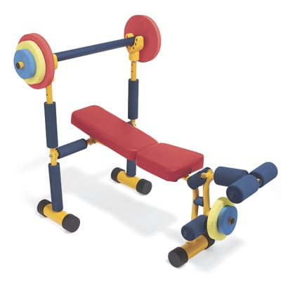Kids weight bench exercise equipment from one step ahead 2i713284 Kids weight bench