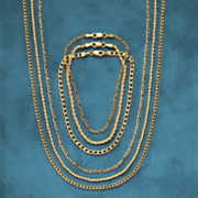14k gold figaro chain necklace