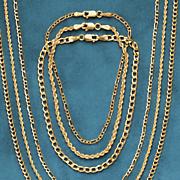 14k gold rope chain bracelet
