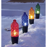 Faceted Christmas Path Light String