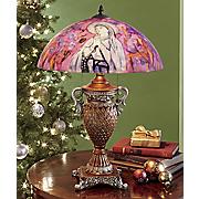 Hand-Painted St. Bernadette Table Lamp