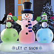 inflatable let it snow trio