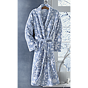 snowflake plush robe
