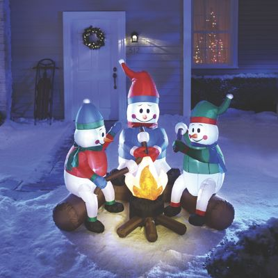 Snowmen Campfire From Ginny S 713632