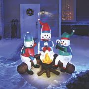 snowmen campfire