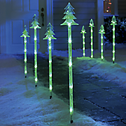 christmas tree pathway markers