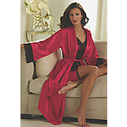 lace chemise and robe