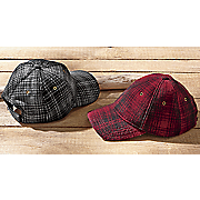 plaid baseball cap by woolrich
