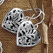Sterling Silver Keepsake Heart Earrings