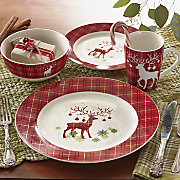 16 pc prancer dinnerware set
