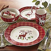 16 pc prancer dinnerware set
