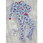 penguin footed pajamas
