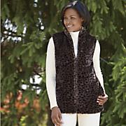 Reversible Faux Fur Vest by Totes