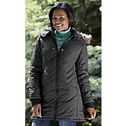 Chevron Quilted Mid-Length Coat by Totes