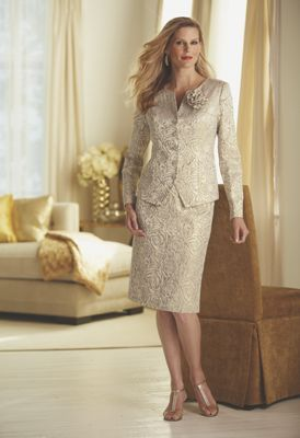 Golden Rose Jacquard Suit