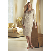 golden rose jacquard suit