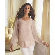shimmer layer blouse 44
