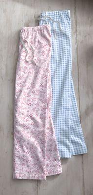 Unique's Shop Flannel Lounge Pant-Pink Floral-Misses-M at Sears.com