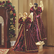 burgundy robed angel