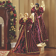 burgundy robed angel
