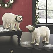 set of 2 polar bear figurines