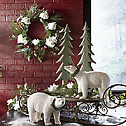 hydrangea wreath swag and garland