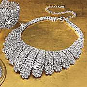 crystal bar necklace