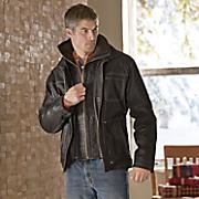 double zip leather jacket
