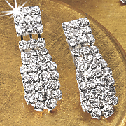 crystal bar earrings