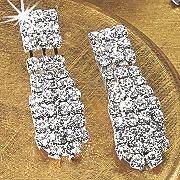 crystal bar earrings